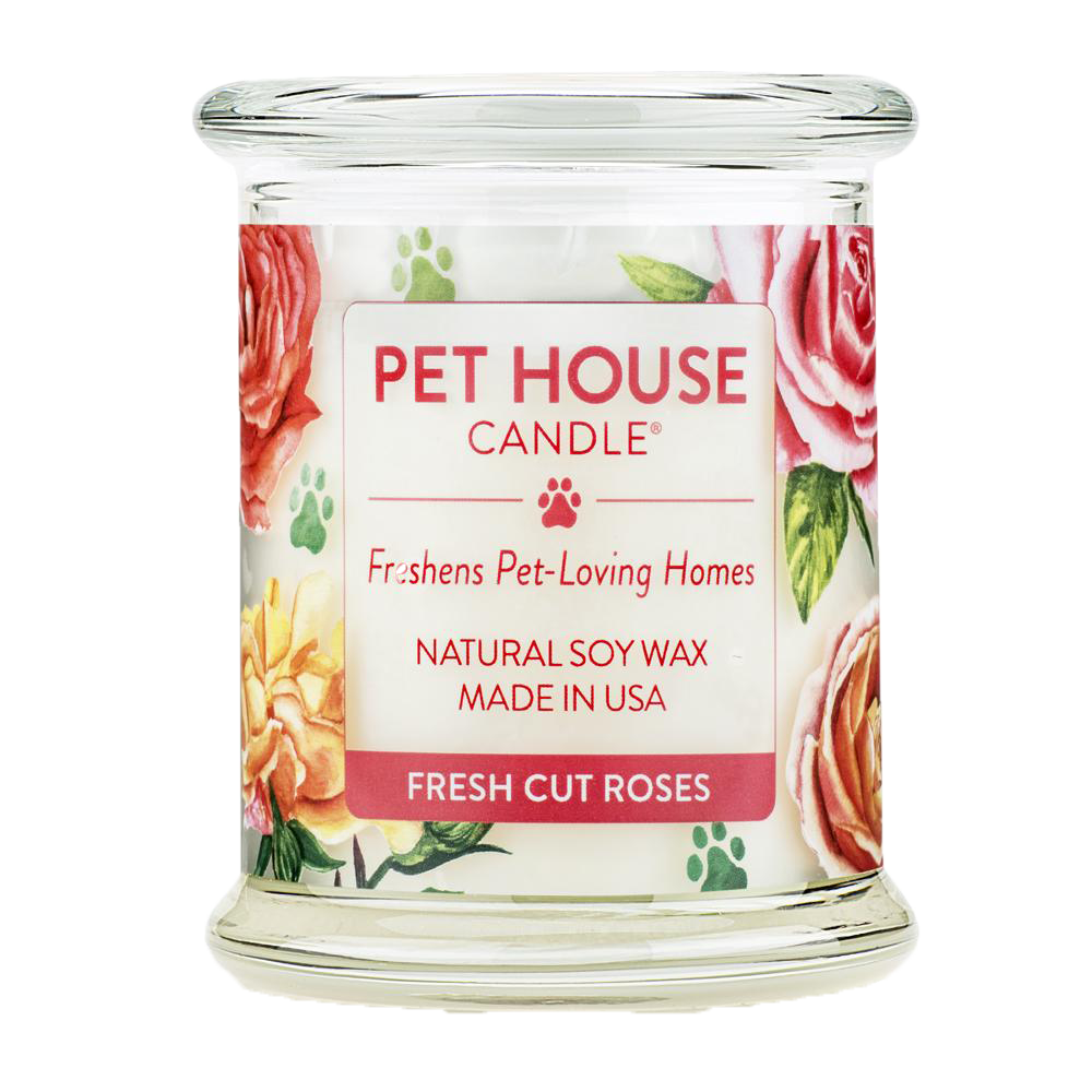 Renske Pet House Candle Fresh Cut Roses_