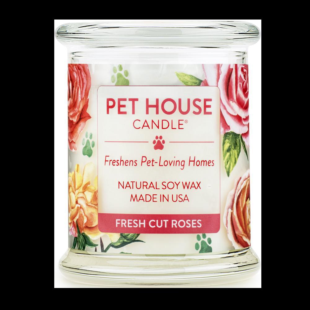 Renske Pet House Candle Fresh Cut Roses_