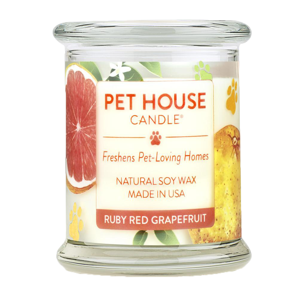 Renske Pet House Candle Ruby Red Grapefruit