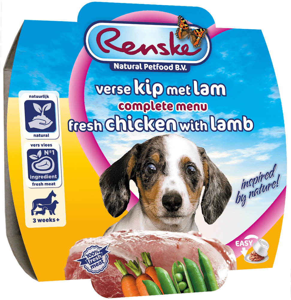 Renske Fresh Puppy Chicken-Lamb 100g-min