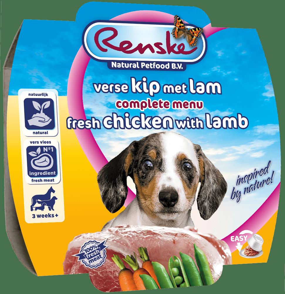 Renske Fresh Puppy Chicken-Lamb 100g-min